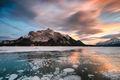 abraham lake, alberta, canada, forecast, snow, evening, lake, ice, sunset, beauty