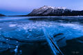 striking, abraham lake, alberta, canada, ice, layers, surface