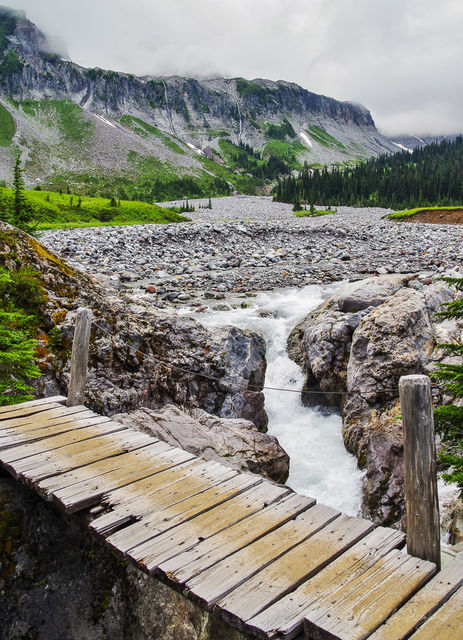 indian bar, mt rainier national park, mt rainier, national park, paradise, waterfalls, river, meadows, wildflowers, cabin, footbridges