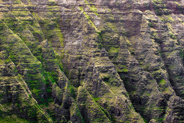cliffs, Kauai, Hawaii, view, hike, ocean, capture, lushness, patterns