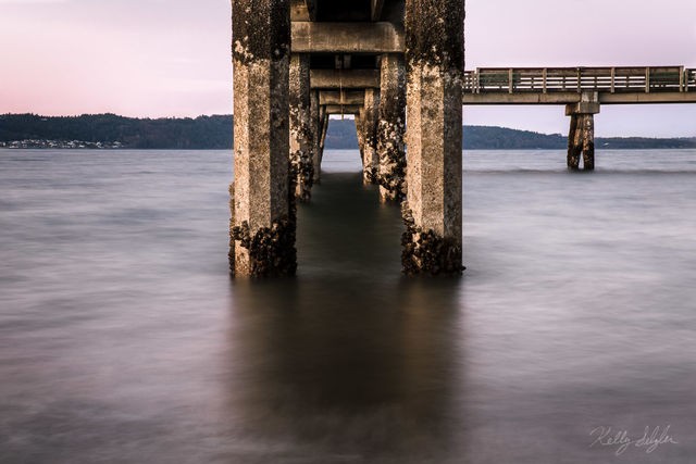 dash point, dash point pier, pier, long exposure, puget sound, glass, craggy