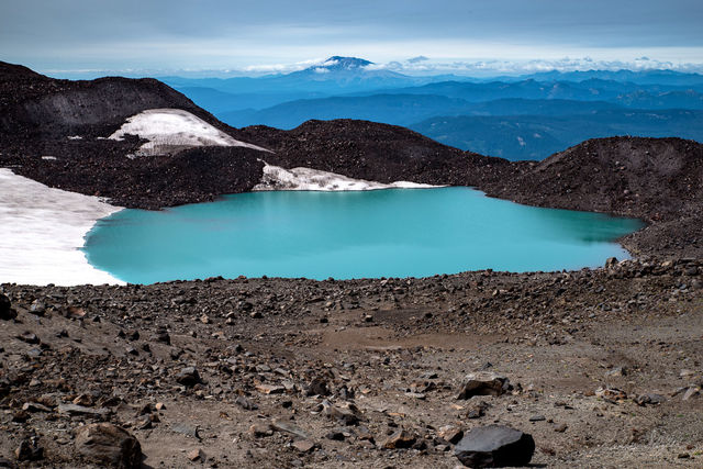 turquoise, mt adams, mt st helens, alpine lake, lake, landscape