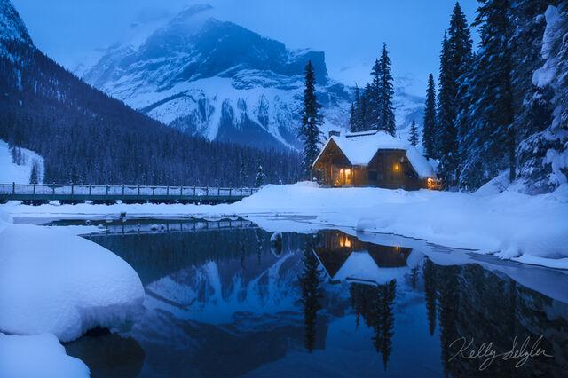 emerald, lake, blue, beautiful, yoho, canada
