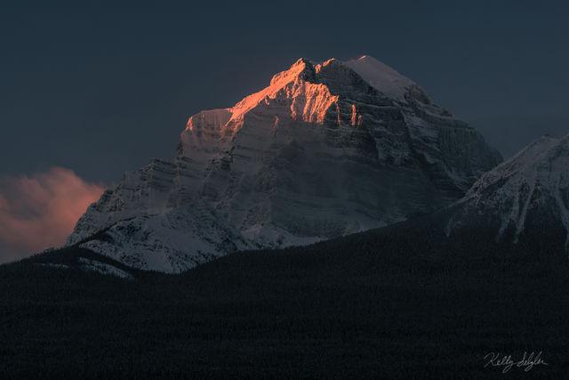 first light, banff, canada