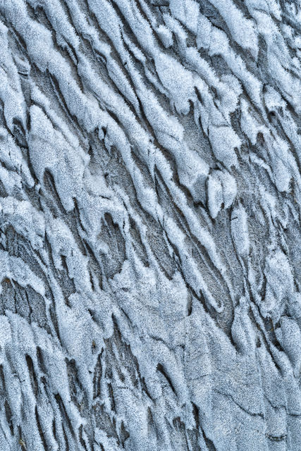 frost, patterns, rock