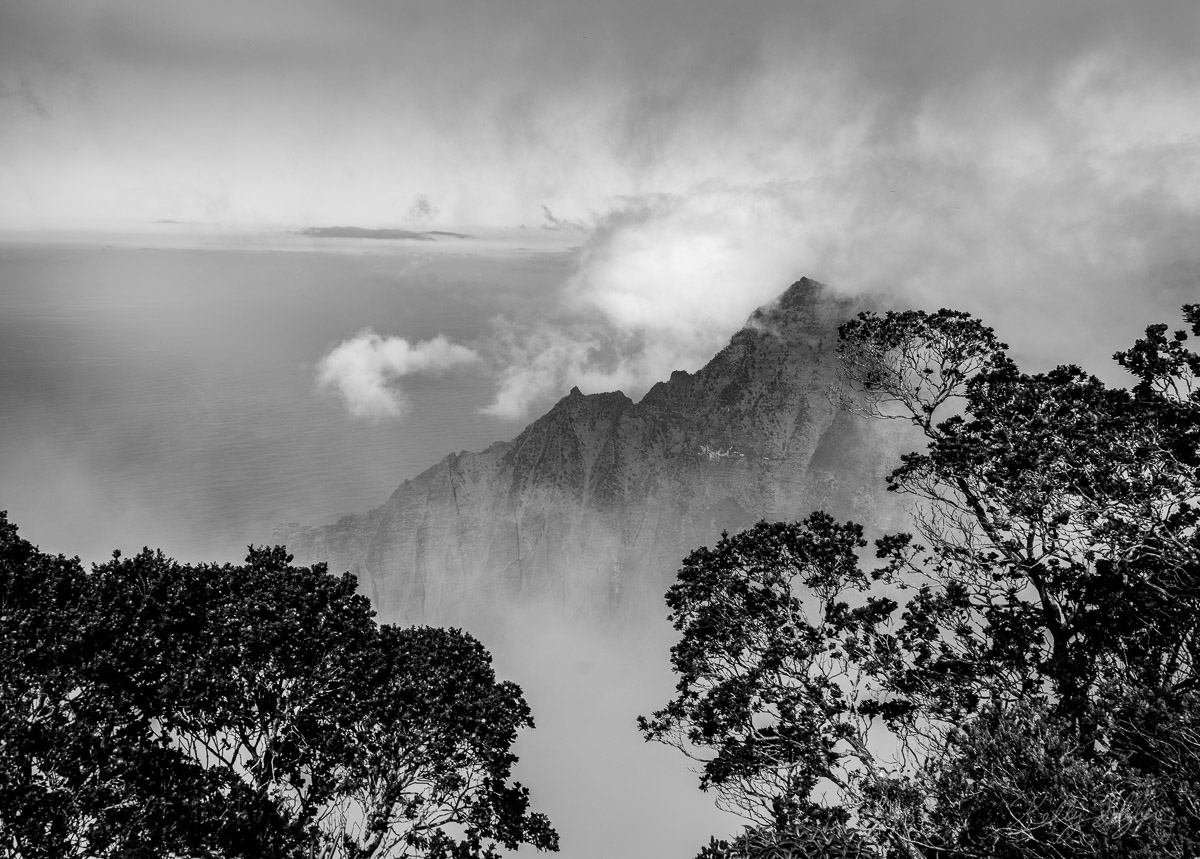 Peering out onto the ocean, cliffs, and clouds made me fall in love with the landscape of the island of Kauai.