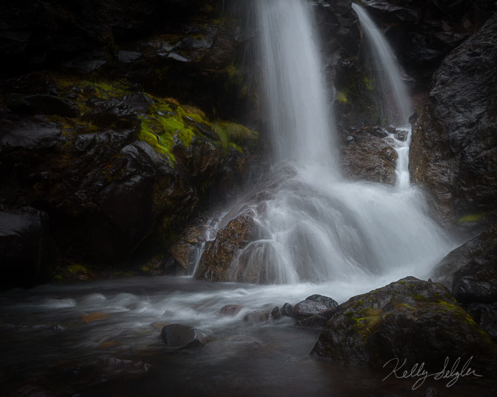 A bit of a pain to get to, this small waterfall was well worth the effort.