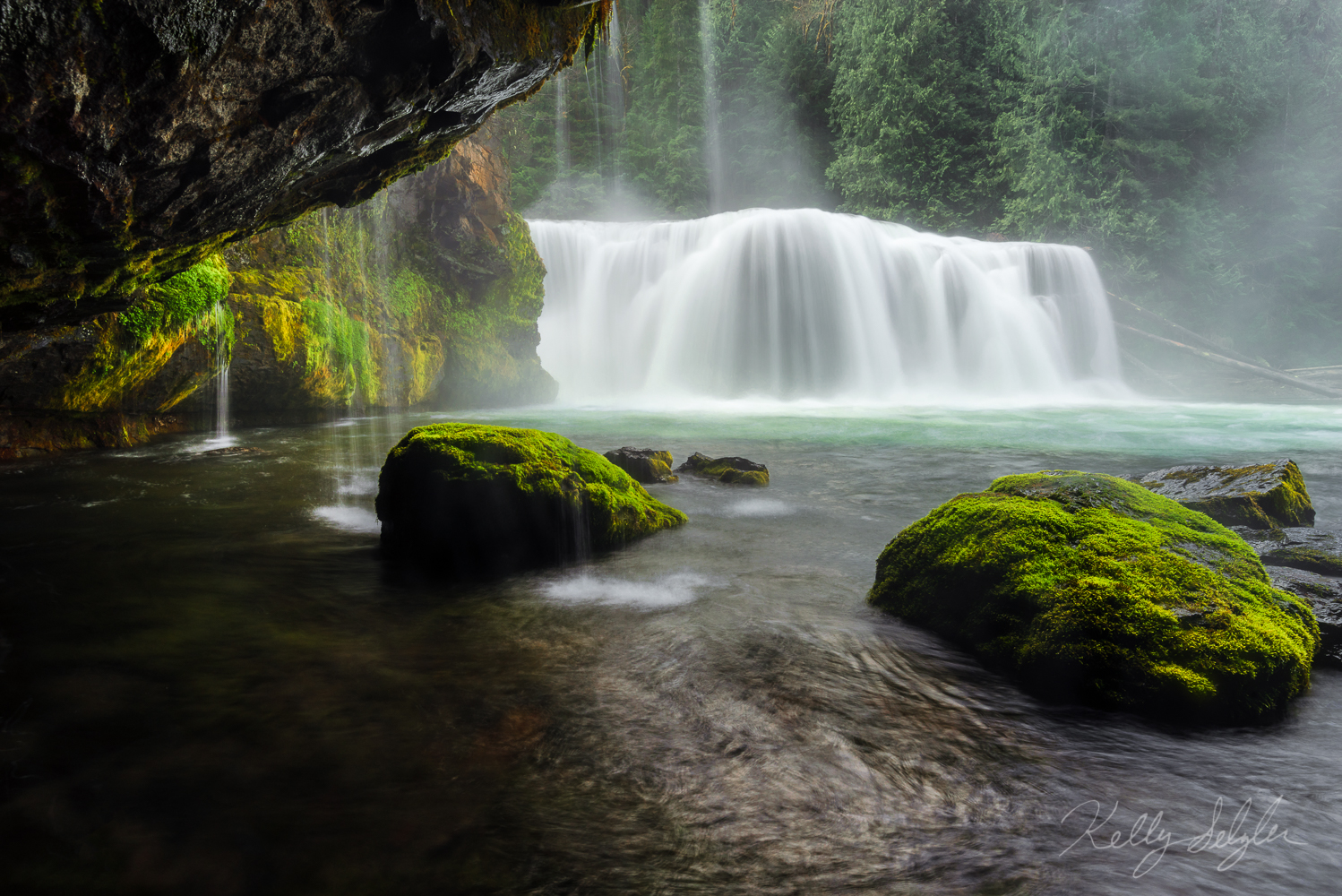 waterfall, lower lewis, paradise, , photo