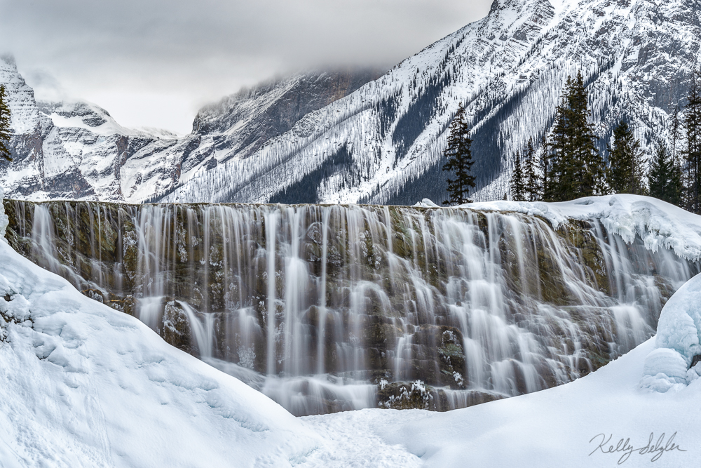 A little different perspective of Wapta Falls.