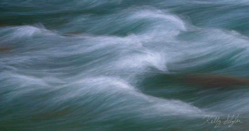 A long exposure of a river can result in some beautiful patterns.